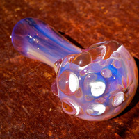 Stunning Purple Color Changing Glass Pipe with Texture