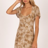 Amuse Iman Short Sleeve Woven Dress