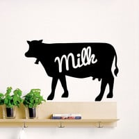 Wall Decal Animals Cow Milk Design Wall Decals Bedroom Living Room Kitchen Farm Vinyl Stickers Home Decor 3851
