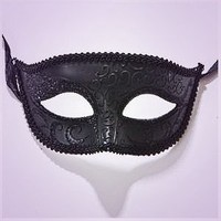 Luxury Mask Unisex Sparkle Venetian Mask Mardi Gras  Black, One Size