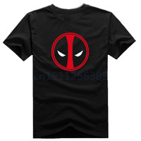 New Slim Deadpool Costume X-men Black Man Casual T-shirt Mens T Shirts Fashion 2015 Cotton Printed T Shirt Homme Black S-XXXL