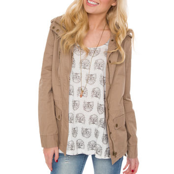 Military Jane Jacket - Taupe