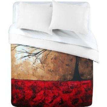 DENY Designs Madart Inc. Lost In The Forest Duvet Cover, Queen