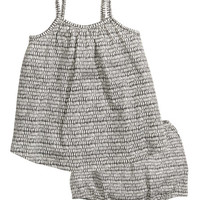 Dress and Puff Pants - from H&M