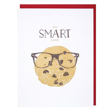 Smart Cookie Congratulations/Graduation Greeting Card [Smudge Ink]