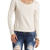 Beaded & Rhinestone-Embellished Sweatshirt