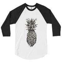 Pinapple head 3/4 sleeve raglan shirt