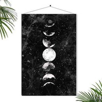 Full Moon Poster Geometric Art Galaxy Sky Space Stars Geometric Decor Watercolor Art Astronomy Science Wall Art Home Decor Dreamy Luna Lunar