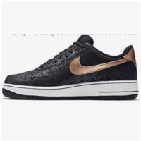 NIKE Women Men Running Sport Casual Shoes Air force low tops contrast color Black