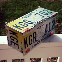 Upcycled Wall Mount Mississippi Magnolia License Plate Mailbox
