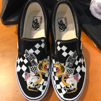 VANS Tiger Embroidery Fashion casual shoes