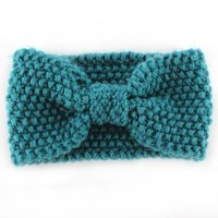 Winter Knitted Turban Headband For Women Ear Warmer Twist Wide Hair Band