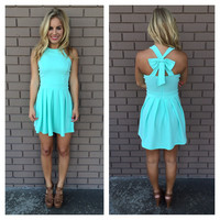 Mint Bow Cross Dress
