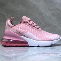Nike Air Max 270 Knitted mesh bandage Half-palm air-cushioned running shoes