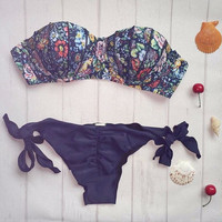 Hot New Arrival Swimsuit Summer Beach Sexy Set Swimwear Print Hot Sale Bikini [9594678927]
