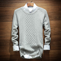 Mens Casual Comfortable Knitted Sweater