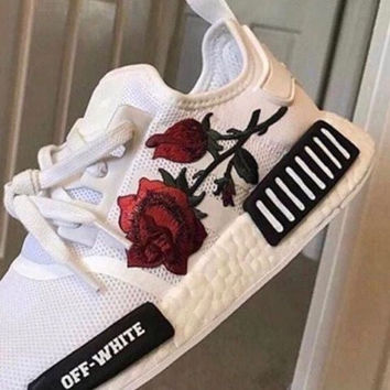 Adidas NMD Off-White Boost Women Casual Sports Shoes Sneakers | Love Q333