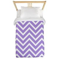 chevrons-stripes-lavender-backgroud Twin Duvet> Lilac Zig Zags> Allcolor