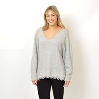 Free People - Irresistible V Fringe Sweater