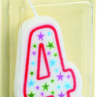 Cake Mate Birthday Party Candle - Numeral - 4 - 3 In - 1 Count - Case Of 6