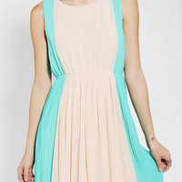 Urban Outfitters - Olive & Oak Colorblock Pleated Dress