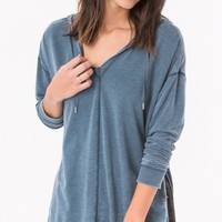 The Quinn Hoodie in Orion Blue