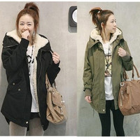 New Fashion Women Winter Jacket Fur Coat Warm Long Coat Fashion Cotton Jacket Plus Size Parka G0081