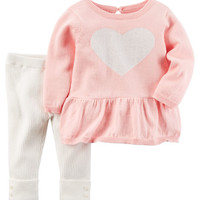 2-Piece Little Sweater Set