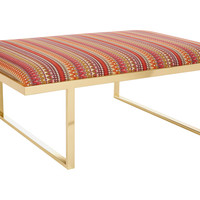 """Taylor Burke Home, Kelly 51"""" Brass Coffee Table, Mulberry, Coffee Table Base, Sofa Table"""