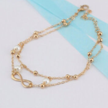 Body Chains Women Silver Plated Anklet Bead Ankle Bracelet Anklets for Women Foot Jewelry SM6