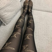 Louis Vuitton pattern tights