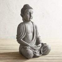 Large Gray Sitting Buddha