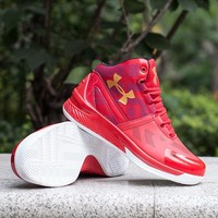 Under Armor Stylish On Sale Men Jogging Shoes High-top Basketball Shoes Boots Sneakers [9115455303]
