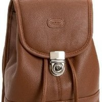 Leatherbay Leather Mini Backpack,English tan,one size