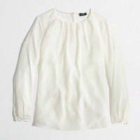 Factory pleated top - blouses - FactoryWomen's Shirts & Tops - J.Crew Factory
