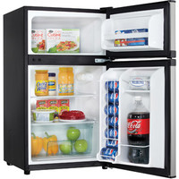 Walmart: Danby 3.1-cu ft Refrigerator, Black and Stainless Steel