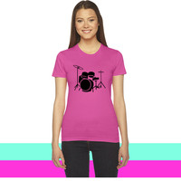 drums  1 women T-shirt