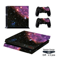 Skin Sticker Starry Sky For PS4 Playstation 4 Console & 2 Controller Skin New Vinyl Sticker Stylish & Fashional Design