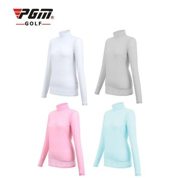 Golf Sunscreen UV Ice T-shirts Long Sleeve Clothes for women