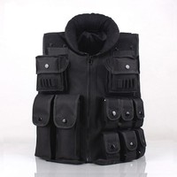 Black Hunting Military Tactical Ves Army Airsoft Swat Vests CS Wargame Body Molle Armor Hunting Vest CS Outdoor Equipment