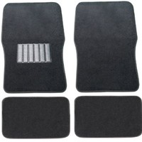 Premium Car Floor Mats Carpet Solid Black 4pc Front Rear For Volkswagen VW Beetle
