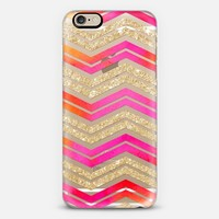 Watercolor Glitter Chevron on Wood 04 iPhone 6s case by Noonday Design | Casetify