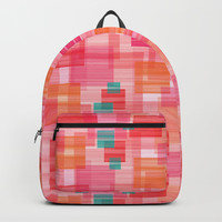 Abstract Red Backpack by edrawings38