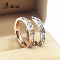 90% OFF ! Size 4-10 Female Girls Geometric Ring 925 Sterling Silver & Rose Gold Ring Promise Wedding Engagement Rings For Women