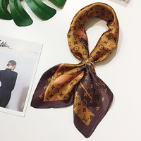 Louis Vuitton Women Kerchief Shawl Silk Scarf