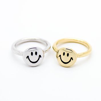 Smiley knuckle, midi ring