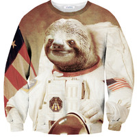 Sloth On The Moon Sweater