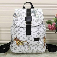 PEAP2 LV Louis Vuitton Leather Travel Bag Backpack