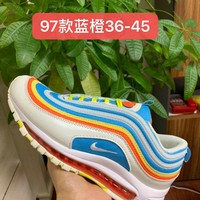 HCXX 19July 963 Nike Air Max 97 Flyknit Breathable Running Shoes Blue Orange