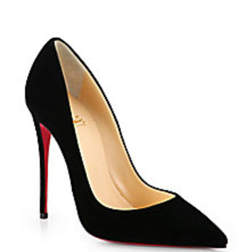 Christian Louboutin - So Kate 120 Suede Pumps - Saks Fifth Avenue Mobile